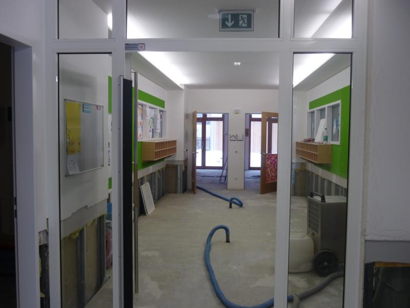 Assessment of the water damage restoration measures at a nursery school
